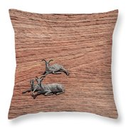 Big Horned Sheep Of Zion Throw Pillow