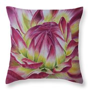 Big In Pink Throw Pillow