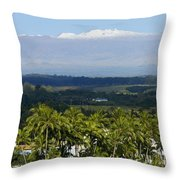 Big Island, Hilo Bay Throw Pillow
