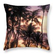 Big Island Palms Throw Pillow