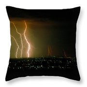 Big Lightning Throw Pillow