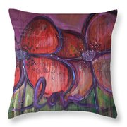 Big Love Poppies Throw Pillow
