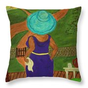 Big Mama On The Porch Throw Pillow