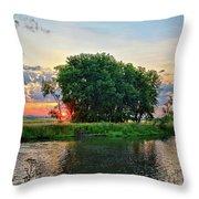 Big Marsh Sun Throw Pillow