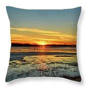 Big Marsh Sunset 2 Throw Pillow