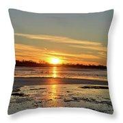 Big Marsh Sunset 4 Throw Pillow