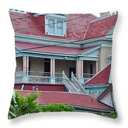 Big Money Moves Into Key West  Throw Pillow