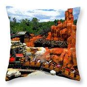 Big Mountain R R Throw Pillow