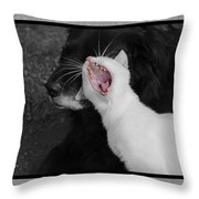 Big Mouth Pete Throw Pillow