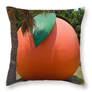 Big Orange At Melbourne On The East Coast Of Florida Throw Pillow