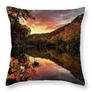 Big Piney Sunset Throw Pillow