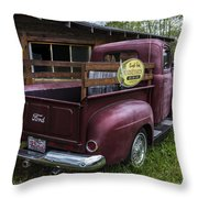 Big Red Ford Truck Throw Pillow