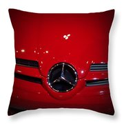 Big Red Smile - Mercedes-benz S L R Mclaren Throw Pillow