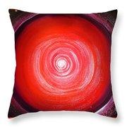 Big Red Star. Space Art Throw Pillow