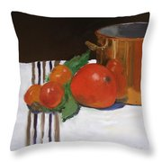 Big Red Tomato Throw Pillow