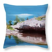 Big River Rock Throw Pillow