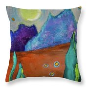 Big Rock Candy Mountain Throw Pillow