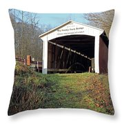 Big Rocky Fork Bridge Indiana Throw Pillow