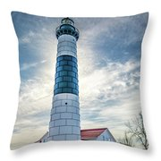 Big Sable Light On Lake Michigan Throw Pillow