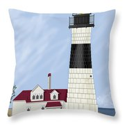 Big Sable Michigan Throw Pillow