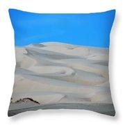 Big Sand Dunes In Ca Throw Pillow