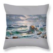 Big Seastorm - Italy Throw Pillow