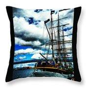 Big Ships Throw Pillow