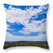 Big Sky In Pecos Valley Throw Pillow