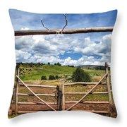 Black Mountain Ranch Throw Pillow