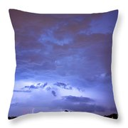 Big Sky With Small Lightning Strikes In The Distance Throw Pillow by James BO  Insogna