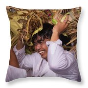 Big Smile From Bali Throw Pillow