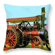 Big Steamer Throw Pillow by Dominic Piperata