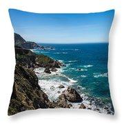 Big Sur Ca Throw Pillow