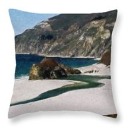 Big Sur California Throw Pillow