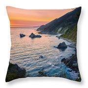 Big Sur Evening Throw Pillow