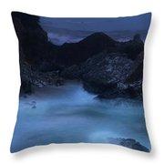 Big Sur Night Throw Pillow