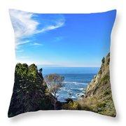 Big Sur Partington Cove Throw Pillow
