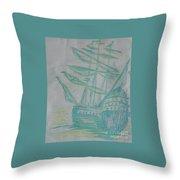Big Tall Sail Throw Pillow
