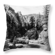 Big Thompson Canyon Throw Pillow