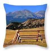 Big Timber Canyon Throw Pillow