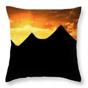 Big Top Sunset Throw Pillow