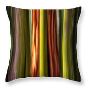 Big Trees Abstract Throw Pillow