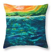Big Tropical Wave Throw Pillow