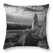 Big Tub Lighthouse Throw Pillow