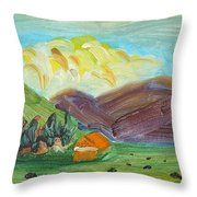 Big Valley Throw Pillow by Steve Jorde