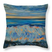 Big Wave After Storm Throw Pillow