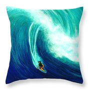 Big Wave North Shore Oahu #285 Throw Pillow
