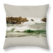 Big Waves Comin In Throw Pillow