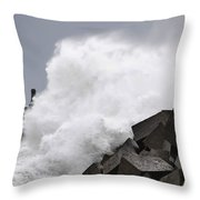 Big Waves II Throw Pillow
