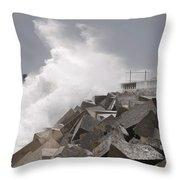Big Waves IIi Throw Pillow